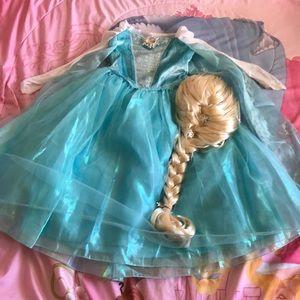 Frozen Elsa Costume with Wig